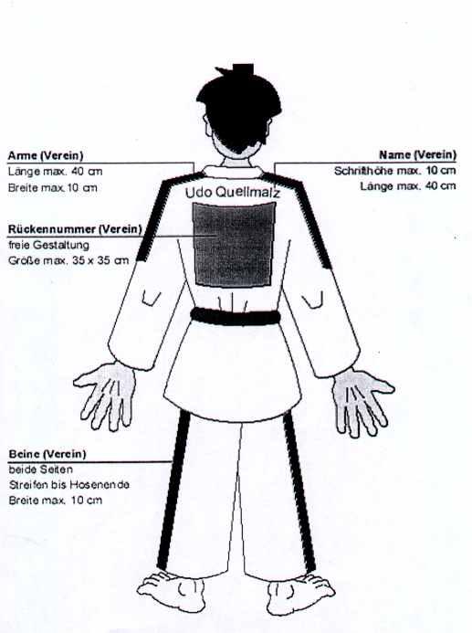 Werberichtlinien für Judoanzüge